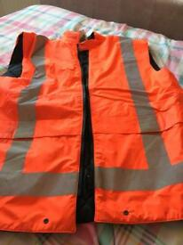Hi vis XL padded vest new