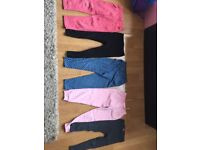 5 pairs of children's trousers age 4 £8