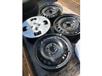 Steel wheels x4 with trims