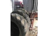 16.9 34 rear tractor tyres good year 13.6 x24 front