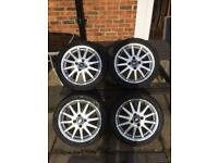 Ford Fiesta zetec s alloy wheels and tyres