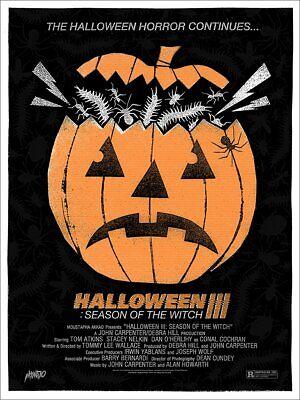 Mondo Halloween 3 Screenprinted Poster 18x24 x/225 Alan Hynes III H3 - Alan Halloween