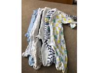 8x baby sleepsuits