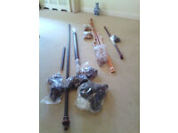 curtain poles wooden