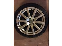 Audi speedline alloy wheels with tyres