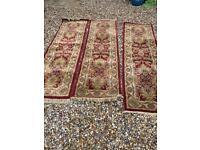 Three carpets, runners/ Stair carpets