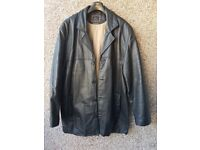 LIKE NEW - ITALLO's MEN'S GENUINE LEATHER JACKET FROM ITALY 2XL - 3XL (check measurements)