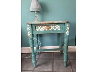 Vintage, stylish chic tables stencilled and hand painted professionally and waxed