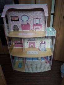 3 storey Chad Valley Dolls House plus accessories.
