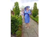 Mother of the bride/groom dress and jacket with matching hat