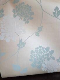 Laura ashley isadore duck egg wallpaper
