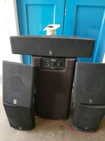 Yamaha 5.1 surround speakers & sub
