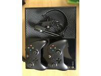 XBox One + additional controller + Games(including Halo: Master Chief Collection) for sale.