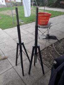 Metal speaker stands, very strong and good condition