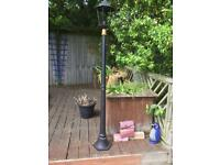 Black iron lamppost mains easy installation,looks gorgeous on a driveway or garden