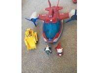 Paw Patrol Plane and 3 figures