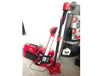 Kids microphone stand guitar and amp set