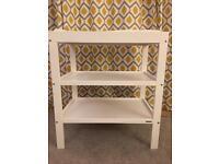 White wooden John Lewis changing table