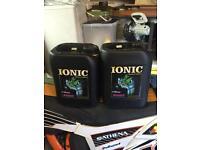 Ionic boost 2x 5l, hydroponics, grow equipment, brand new