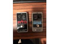 EHX Holy grail Reverb and RTG fx pedals