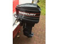 25Hp, Mercury Outboard.