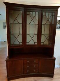 Beautiful Mahogany Dresser Glass Display shelves