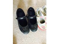 Girls size 12 shoes from clarks and next