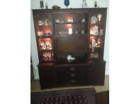TRADITIONAL MAHOGONY DISPLAY & DRINKS CABINET