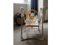 Fisher price jungle swing chair, music and soothing movement