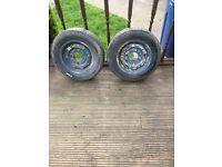 caravan wheels and very good tyres 155s r13