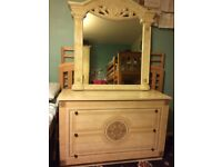 Italian 3 Chest of drawers & Mirror