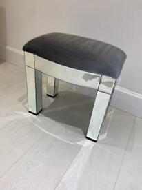 **Mirrored Stool - (dressing table stool)**