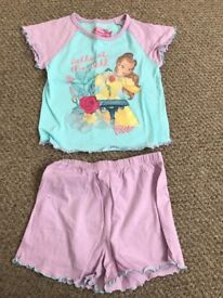 Beauty and the beast Belle Pyjamas size 3-4
