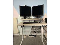 Computer desk (adjustable for sitting or standing)