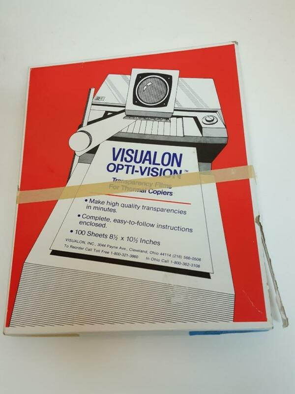 Vintage Visualon Opti-Vision Blue Transparency Films For Thermal Copiers