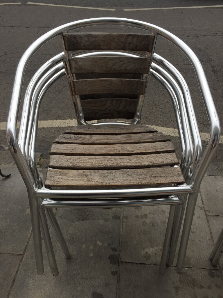 4 x Metal and wood stacking chairsGreat chairscomfy. Free local deliveryin Trinity, EdinburghGumtree - 4 x Metal and wood stacking chairs . Great chairs , comfy. Free local delivery
