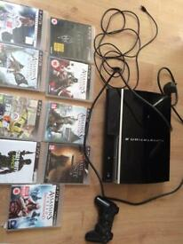 PS3 with 9 games including FIFA 18