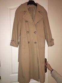 Ladies wool coat in camel