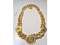 Versace triple medusa head necklace