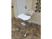 Foldable high chair and tray