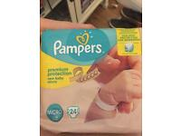 Pampers Nappies Micro size for free