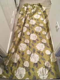 Marks and Spencers 90x90 flower print curtains with matching cushion covers