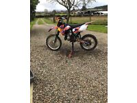 KTM 85sx 2010 motox b/w good condition suit 11 to 14 rebuilt fast bike red bull graphics good fun