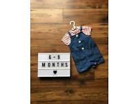 6-9 Month Dungarees