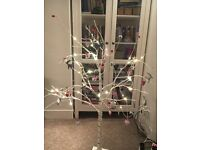 Pre-lit White Tree with Ornaments