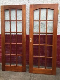 Solid Wood Doors with Panel Glazing (x4)