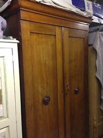 Large Antique Mahogany Wardrobe