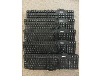 5 Dell Keyboards Model L100 Collection from Croydon