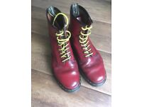 Dr Martens boots, size 8. Original cherry red