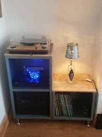 Re purposed record cabinet